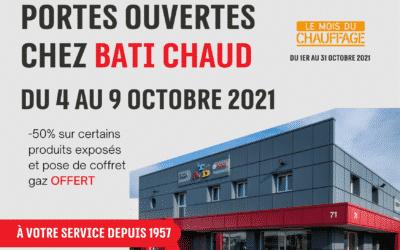 Portes ouvertes du lundi 4 au samedi 9 octobre à l'occasion du Mois du Chauffage !